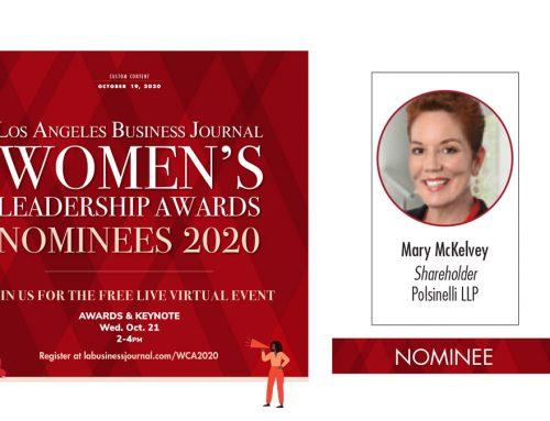 Mary McKelvey Nominated for Women's Leadership Award